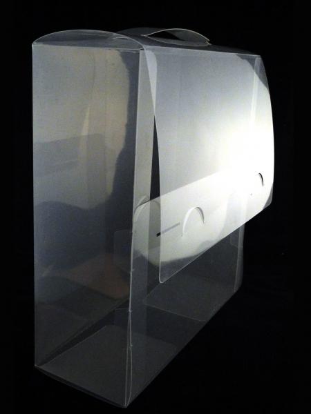 Caja de pl stico transparente tipo malet n zonablister for Cajas de plastico transparente