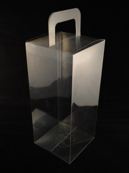 Caja de pl stico transparente con asa zonablister - Caja transparente plastico ...
