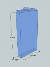 Caja plegable 170x90x20 mm